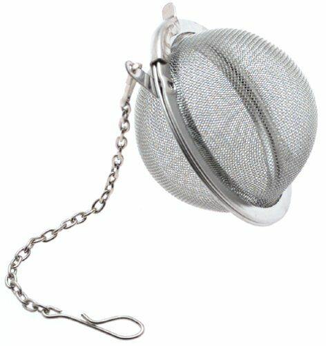 Tea Infuser Ball Mesh Loose Leaf Herb Strainer Stainless Steel Secure Lock NEW*^