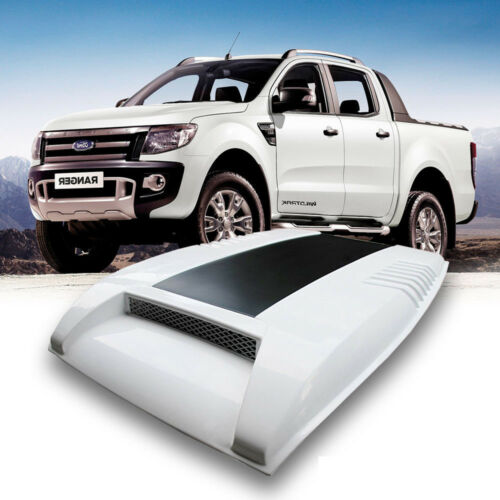 BONNET HOOD SCOOP WHITE MATT MATTE BLACK FIT FOR FORD RANGER MK1 PX1 T6 12 13 14