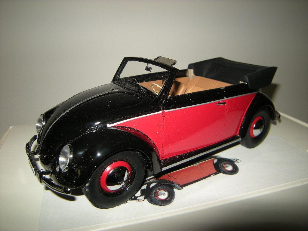 1 18 Minichamps vw escarabajo cabrio 1949 nero rosso-nero-rosso nº 107054132 OVP