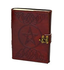 Pentagramm Gothic Leather Note journal diary PREMIUM PAPER Cotton Handmade India