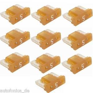 10x-5A-MINI-LP-AUTO-SICURA-micro-fusibili-piatti-BASSO-PROFILO-AUTO