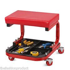 Mechanic Roller Adjustable U Creeper Seat Stool Chair Auto Car Garage Repair