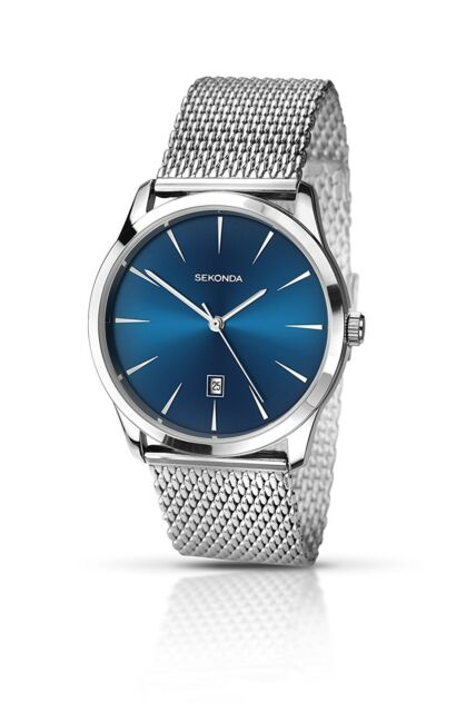 c055a3efb079 Sekonda 1065 Stainless Steel Blue Dial Mesh Strap Watch for sale ...