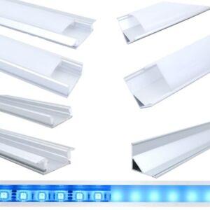 1m-amp-2m-Aluminium-Profil-fuer-LED-Stripe-Abdeckung-matt-klar-Alu-Schiene-Strip