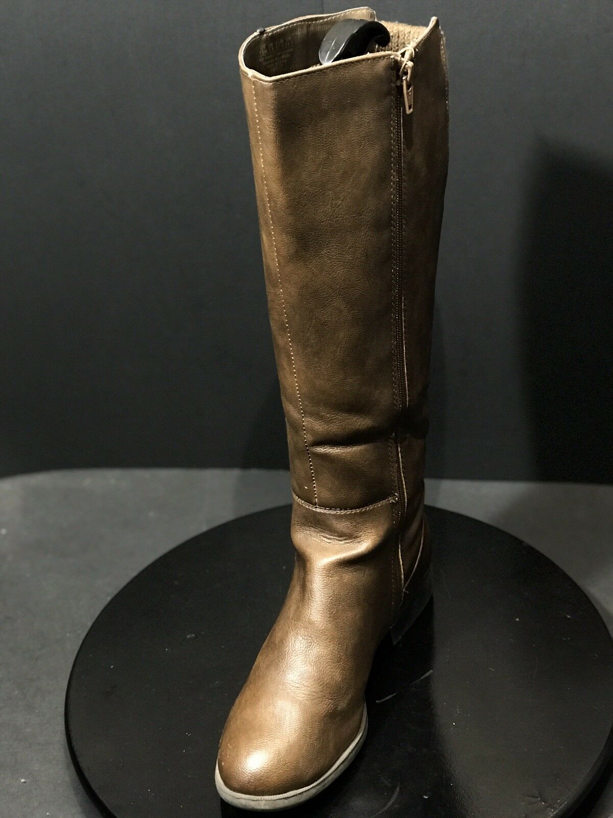 Life Stride Women's Xripley Manmade Riding Boot Dark Tan Size 7.5 W US   UK 5.5