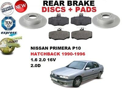 DISC PAD KIT FOR NISSAN PRIMERA P11 1996-2002 NEW REAR 278mm BRAKE DISCS SET