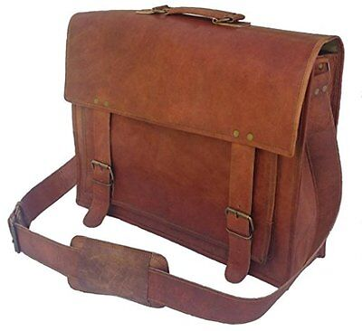 Komals Passion leather 18 inch Handmade Leather Briefcase Messenger Bag laptop