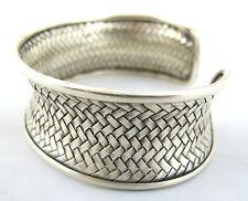 Hill Tribe Silver 999 Bangle Handmade Karen Bracelet Woven Tribal Chunky Thai
