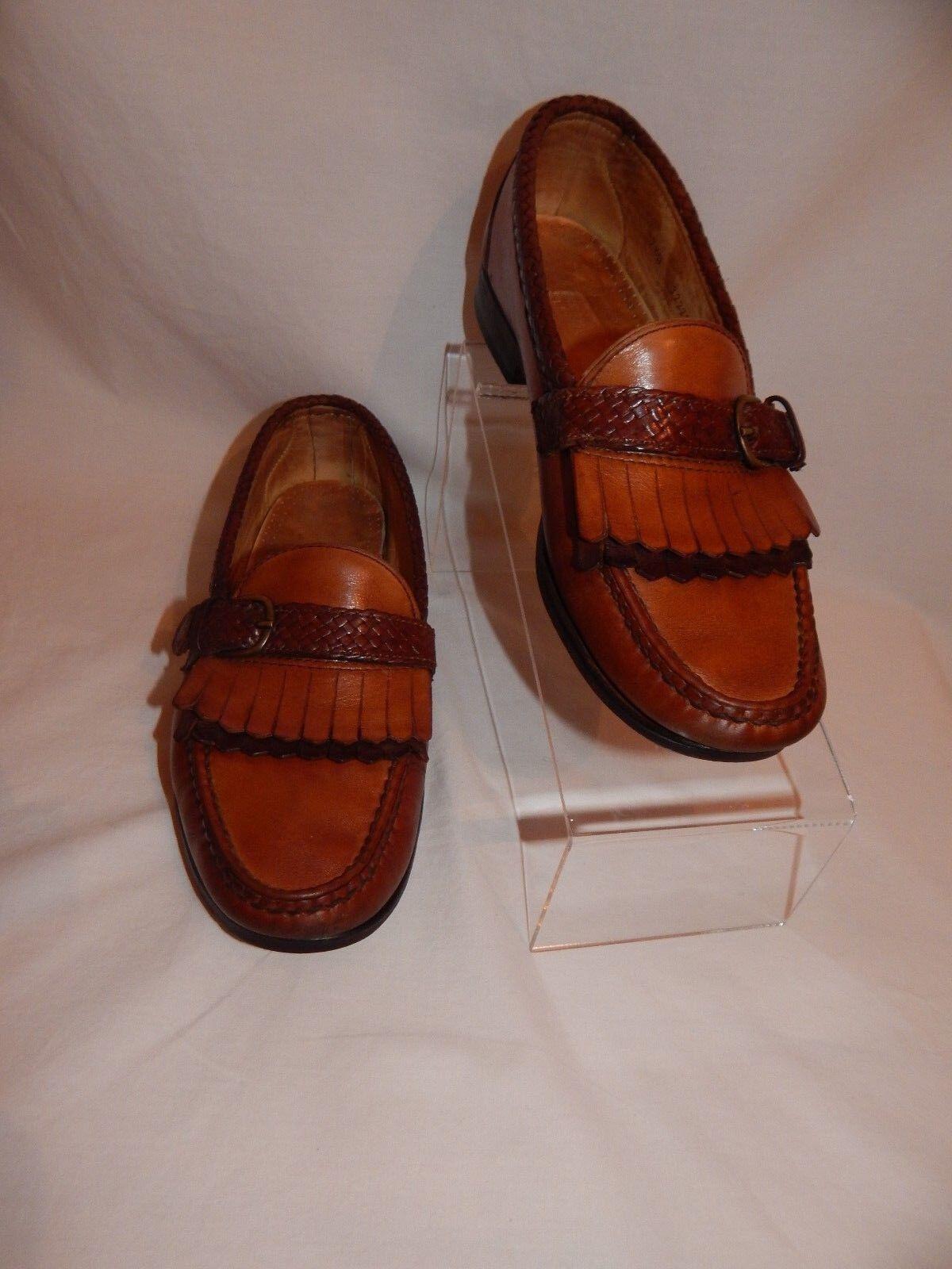 ALLEN EDMONDS Monterey  Tan Brown Loafers Casual Men's shoes Size 7.5 D