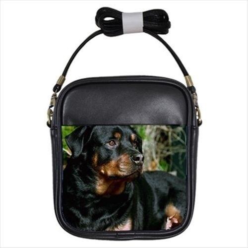 Rottweiler Leather Sling Bag /& Women/'s Handbag Puppy Dog