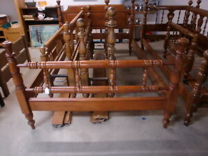 Cherry Full Size Poster Bed with Wood Side Rails Nice!