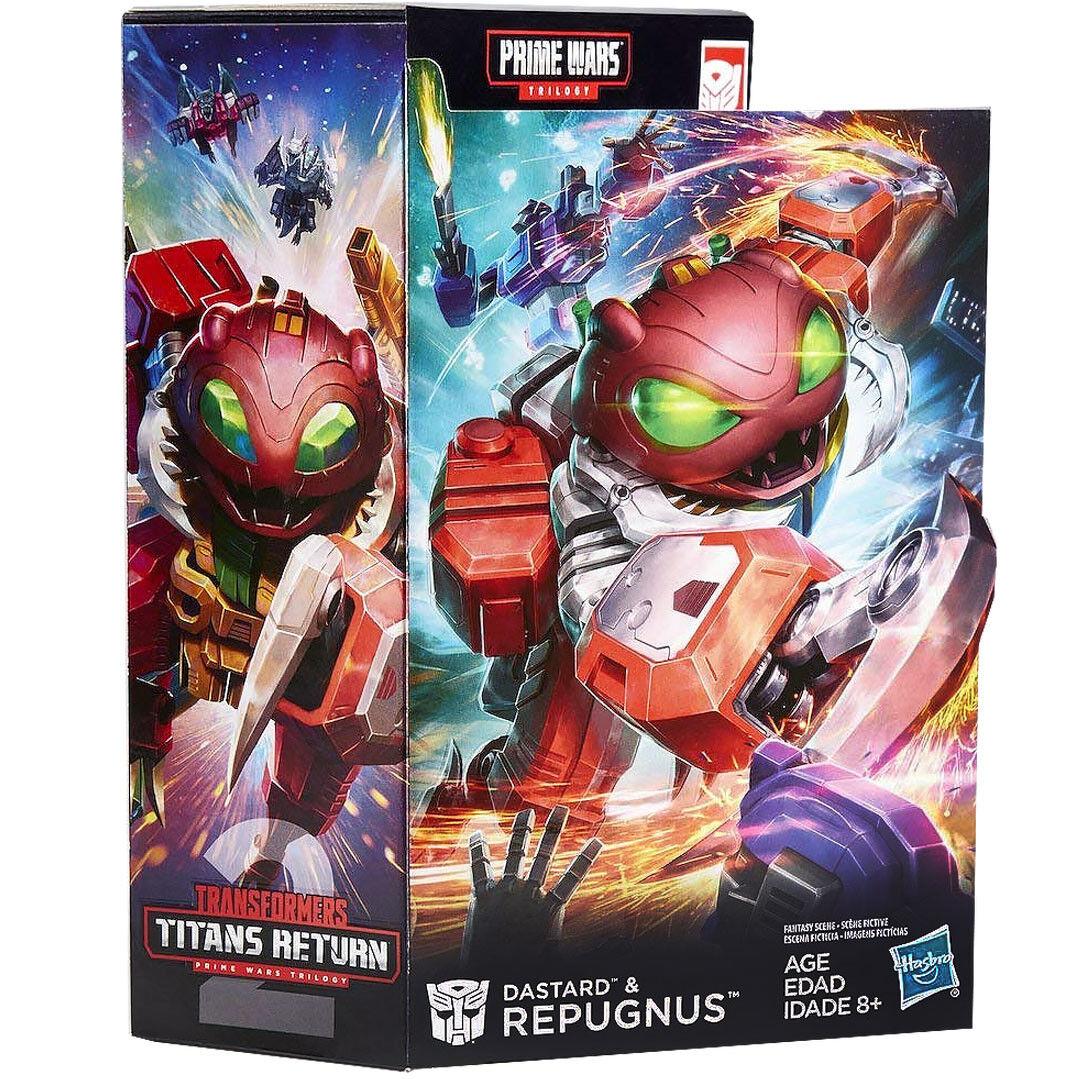 (ES) Transformers Titans Return Prime Wars Trilogy DaEstrellad & Repugnus NEW