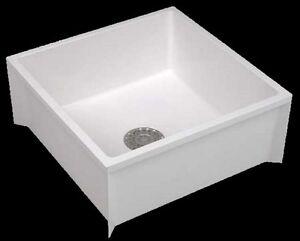 Mop Sink Service Basin Single Bowl White Floor Mount