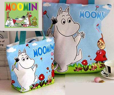 Delizioso Moomin Canvas Shopping Shoulder Tote Bags Kawaii Present Gift Summer Rapida Dissipazione Del Calore