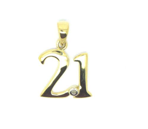 21 Pendant                            608F 18 9ct Yellow Gold Diamond Set 16