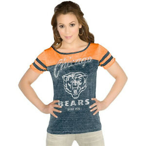 GIII Chicago Bears XL Womens Touch ALL-STAR Slim Fit V Neck T SHIRT ... d208d3a32