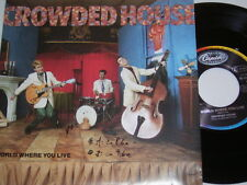 "7"" - Crowded House World where you live & Hole in the River - 1986 MINT # 4923"