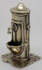 Vintage Solid Silver RARE Street Fountain Miniature - Tested* - Made in Italy
