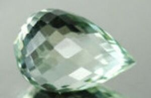 GREEN AMETHYST 16 x 12 MM OVAL CUT CHECKERBOARD TOP AAA ALL NATURAL