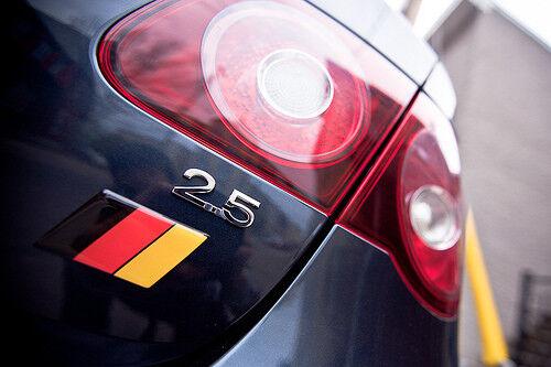 NEW German Flag EUROBADGES euro badge fits VW Volkwagen gti jetta 2 BBW PAIR