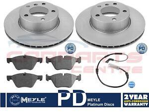 BMW-E90-E91-E92-320-320D-325-FRONT-300mm-MEYLE-PLATINUM-BRAKE-DISCS-PADS-SENSOR