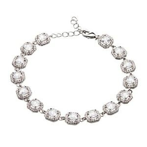 Luxury-Silver-Bracelet-with-sparkling-Cubic-Zirconia-stones-amp-crystals-Nads