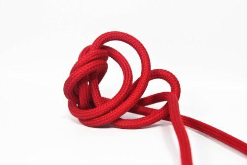 Anschlussleitung Zuleitung rot 2x0,75 Stecker+Schalter 3m Design Textilkabel