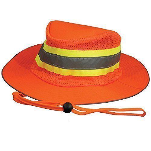 18 PCS --IRONWEAR 1271-0  LIGHTWEIGHT BLAZE orange REFLECTIVE SAFETY BOONEY HAT