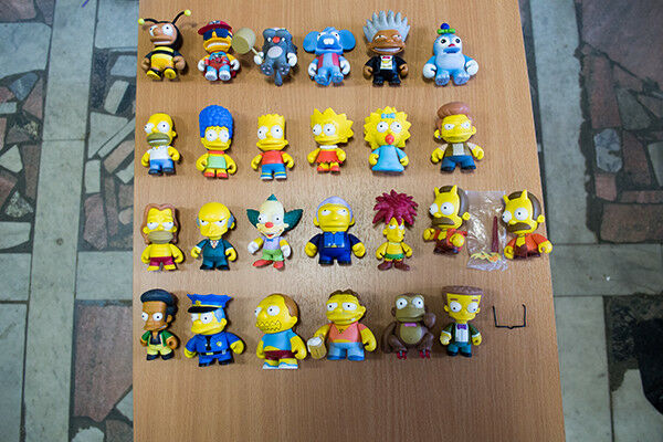 Kidrobot Simpsons complete 3  sets Series 1