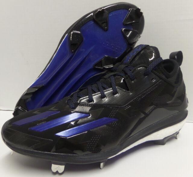 the best attitude 46a2b 83b69 Men s ADIDAS BOOST ICON 2 2.0 METAL BASEBALL CLEATS Black Blue Size 11.5  Q16526