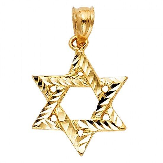 14K Yellow gold Star of David Pendant GJPT1508