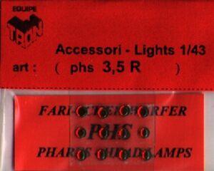 Accessori 1//43 FARI BIANCHI 2,5mm  TRON   PHS25B