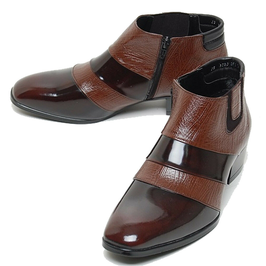 Epicsnob Mens shoes Genuine Cow Leather Dress Formal Chelsea Chukka Ankle Boots