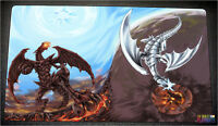 Free Shipping Yugioh Playmat Red-eyes Black Dragon Vs Blue-eyes White Dragon