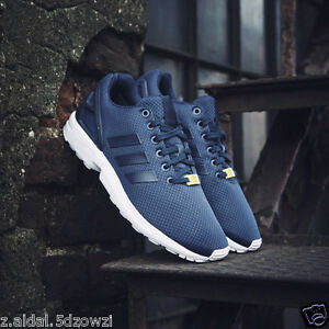 low priced bb101 629d2 Details about Adidas Navy ZX Flux Retro Running Mens Trainers Size UK 11  New ID M19841 (236)