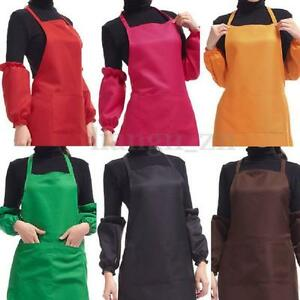 PLAIN-APRON-WITH-POCKET-FOR-CHEFS-BUTCHER-HOME-KITCHEN-COOKING-CRAFT-BAKING-BBQ