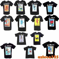 Mexican Loteria Unisex Black T-shirt Funny