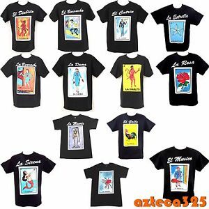 7ee00d7a Image is loading Mexican-Loteria-Unisex-Black-T-Shirt-Funny
