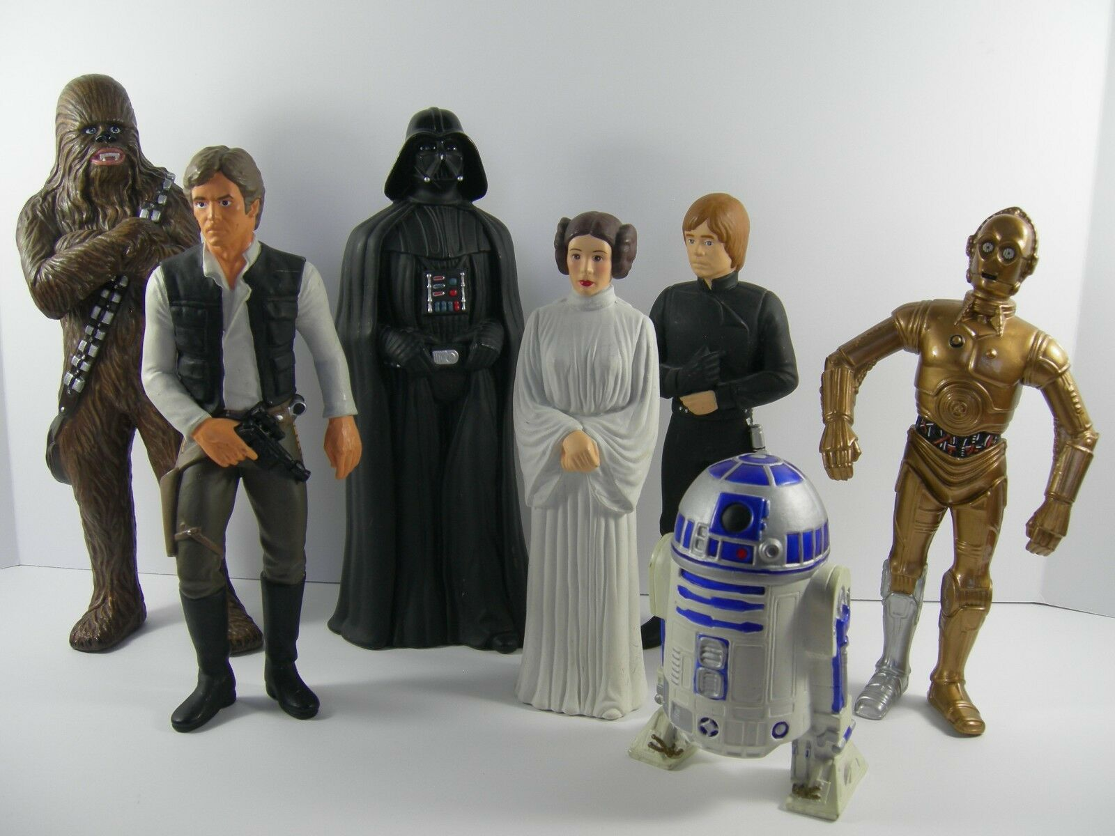 7 Star Wars Figurines Vinyl by Suncoast Picture Rare 9-10 3 4  R2D2 5 1 2  1993