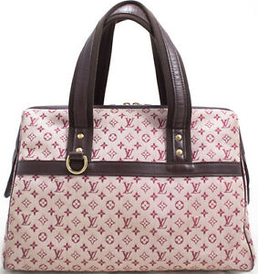louis vuitton monogram mini josephine bag tasche sac a main rose pink rosa super ebay. Black Bedroom Furniture Sets. Home Design Ideas