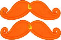 Shwings Orange Neon Mustache Clip On Wings For Shoes Designer Shwings 70103