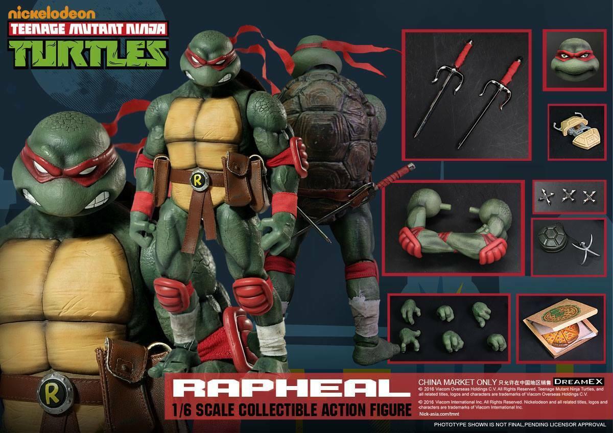 (ES) 1 6 DreamEX Teenage Mutant Ninja Turtle TMNT Raphael 10.5  Acción Figura