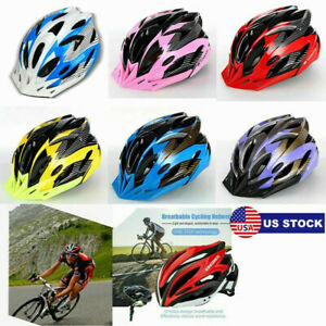 Cycling Bicycle Helmets Sports Mens Women Bikes Helmet Visor Mountain Shockproof