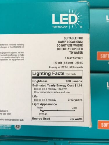 Ecosmart 8 Pack LED 60w Soft White 800 Lumens Brand New In The Box