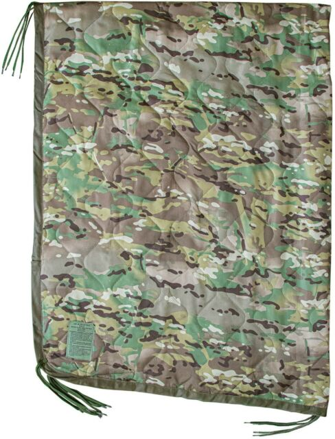 USGI Military Style All Weather Poncho Liner Multicam Woobie Blanket in OCP
