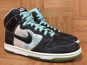 711f4df2e14a RARE🔥 Nike Dunk High Premium Santana Black Glacier Blue Sz 10.5 ...