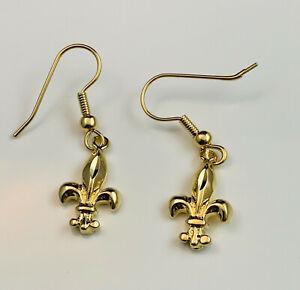 Who Dat Saints Charm Earrings Earrings Saints Jewelry Black and Gold Earrings New Orleans Saints Earrings Saints Earrings
