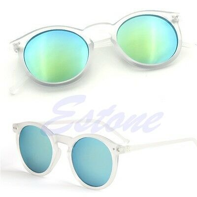 Women Men Retro Vintage Cat Eye Sunglasses Metal Frame Unisex Round Glasses HOT