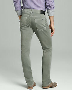 HUDSON-Designer-brand-Men-039-s-Jeans-Blake-Slim-Straight-Sundfaded-Olive-Pants