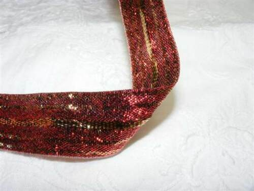 Ribbon,Wired,Silver,Red//Gold,Green//Gold 2,3 or 4 metre